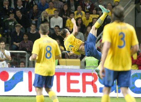 Ibrahimovic'in İngiltere'ye attığı muhteşem gol